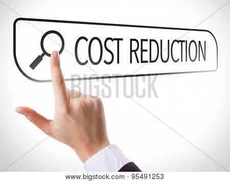 Cost Reduction written in search bar on virtual screen