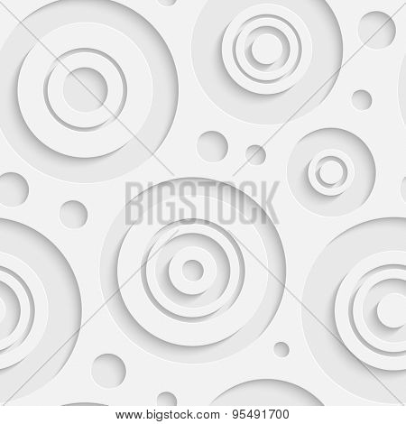Seamless Bubble Pattern. Vector Soft Background. Regular White Texture