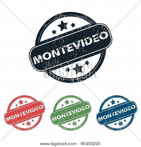 Round Montevideo city stamp set