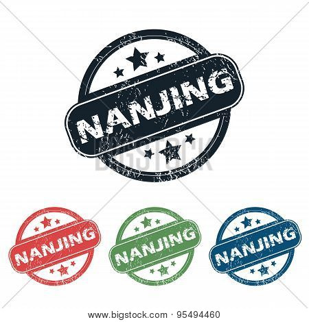 Round Nanjing city stamp set