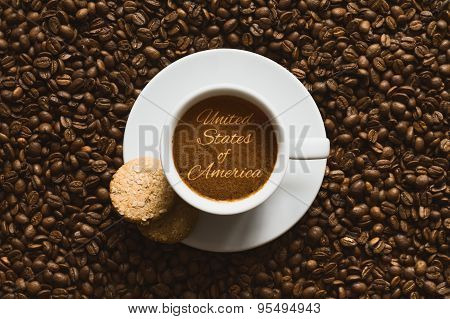 Still Life - Coffee Wtih Text United States Of America