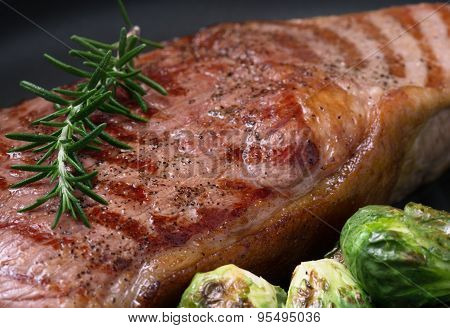 close up steak