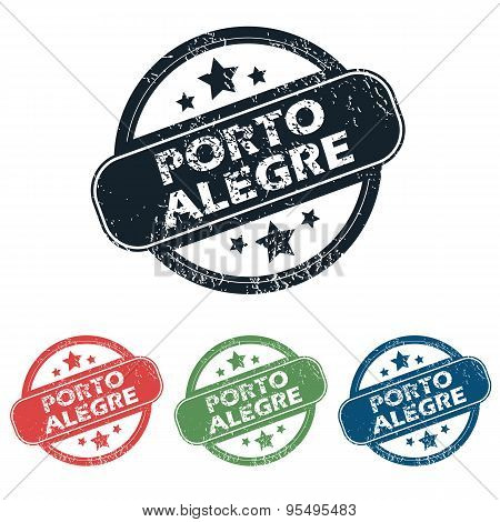 Round Porto Alegre stamp set