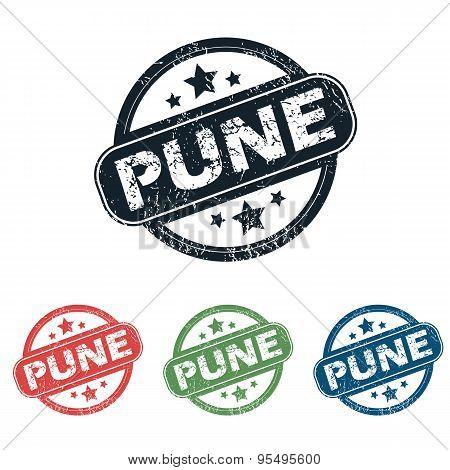 Round Pune city stamp set