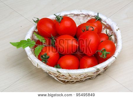 Cherry Tomatoes In The Basket