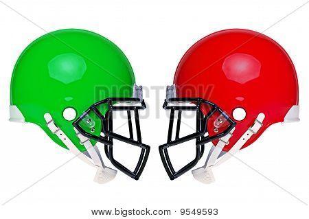American Football Helmets Isolated