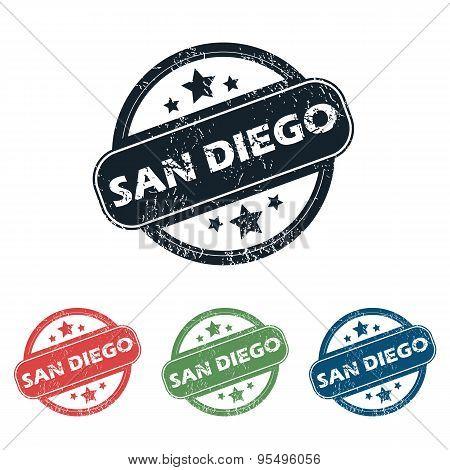 Round San Diego stamp set