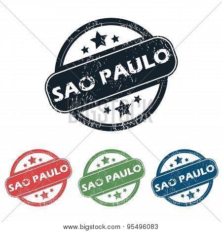 Round Sao Paulo stamp set