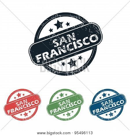 Round San Francisco stamp set