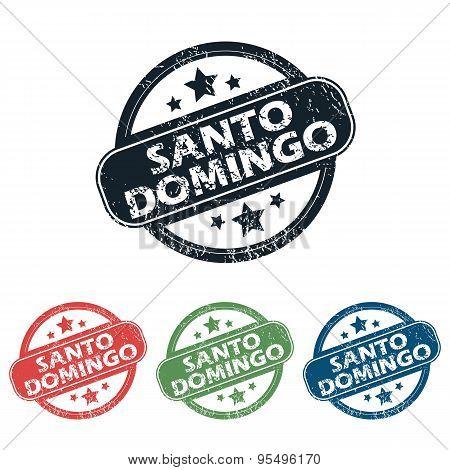 Round Santo Domingo stamp set