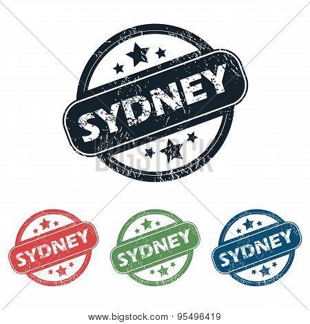 Round Sydney city stamp set