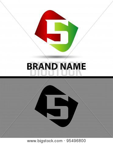 Number five logo.Logo 5 vector template