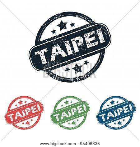 Round Taipei city stamp set