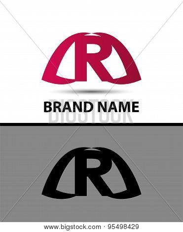 Logo r letter Vector illustration