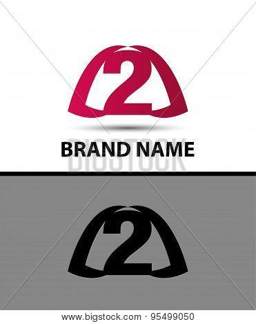 Number logo design. Number two logo