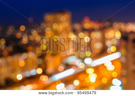 Blurred Defocused Night Lights