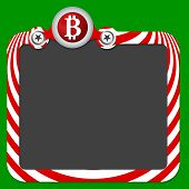 picture of bit coin  - Abstract frame for your text and bit coin - JPG