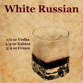 Постер, плакат: White Russian Recipe