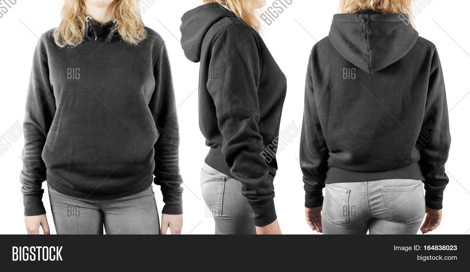 Blank black t shirt front and back - Black T Shirt Front And Back Plain Blank Black Sweatshirt Mock Up Set Isolated Front