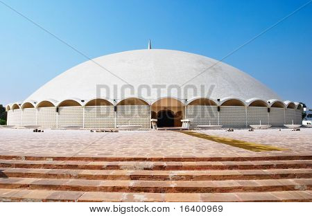 Masjid e Tooba (Tooba Mosque)  the largest single dome mosque in the world, Karachi, Pakistan