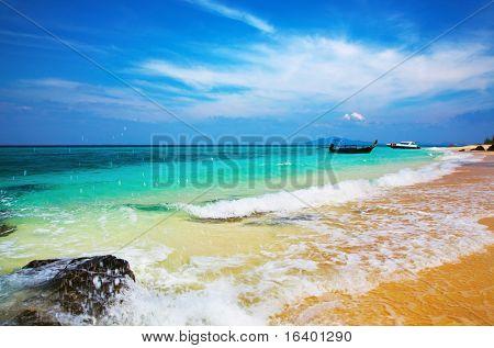 Tropischer Strand, Bamboo Island, Andamanensee, Thailand