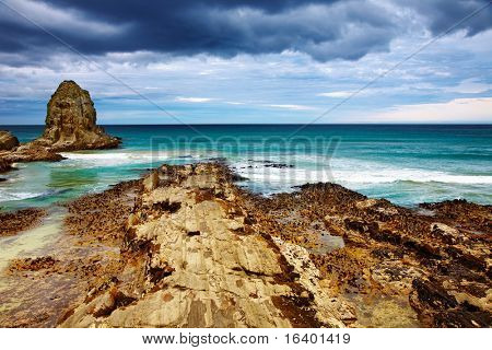 Coastal view, Cannibal Bay, New Zealand