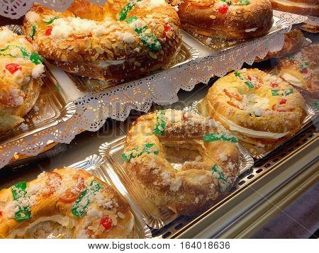 King Cakes In The Pastry Shop Epiphany Cake Roscon De Reyes