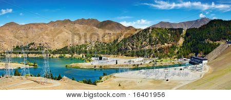Lake Benmore hydro-elektrische dam, Nieuw-Zeeland