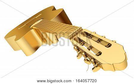 Gold Acoustic Guitar