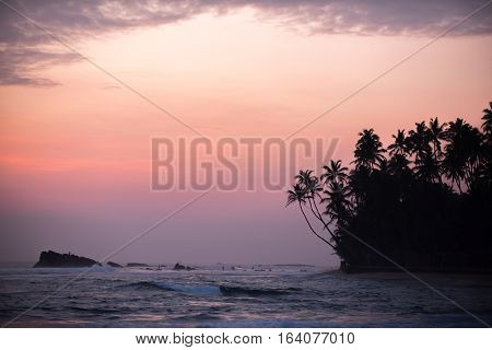 Sri Lanka: beautiful beach in south coast of Indian ocean