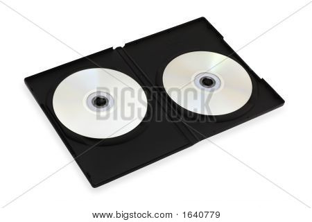 Dvd Box & 2 Disks (Include Clipping Path)