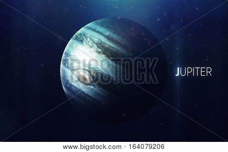 Jupiter - High resolution beautiful art presents planet of the solar system. This image elements furnished by NASA