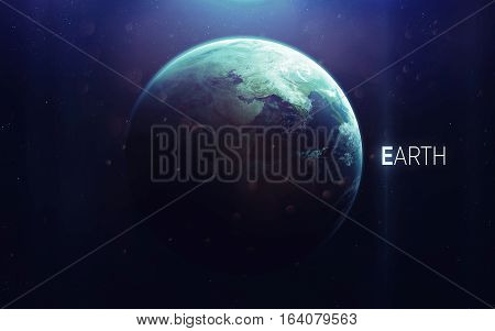 Earth - High resolution beautiful art presents planet of the solar system. This image elements furnished by NASA