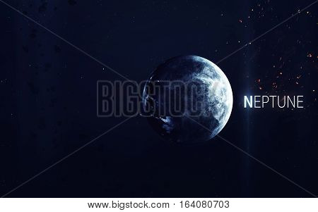 Neptune - High resolution beautiful art presents planet of the solar system. This image elements furnished by NASA