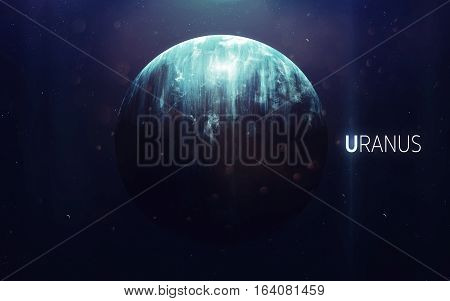 Uranus - High resolution beautiful art presents planet of the solar system. This image elements furnished by NASA
