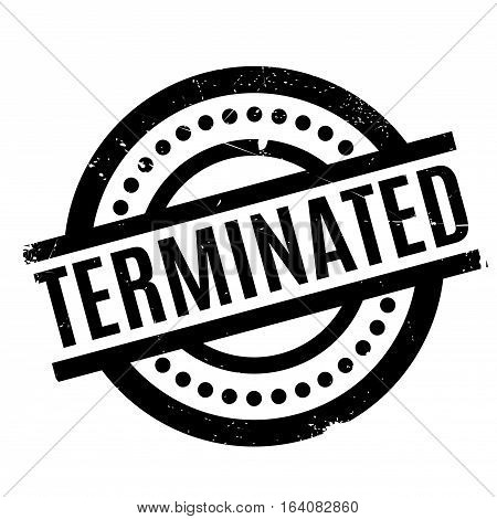Terminated rubber stamp. Grunge design with dust scratches. Effects can be easily removed for a clean, crisp look. Color is easily changed.