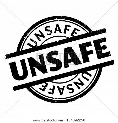 Unsafe rubber stamp. Grunge design with dust scratches. Effects can be easily removed for a clean, crisp look. Color is easily changed.