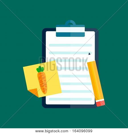 Notebook document line sheet icon symbol illustration. Symbol paper doc. Sheet report clipboard information sign. Business board survey check mark vector.