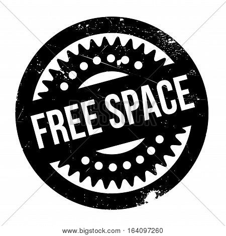Free Space rubber stamp. Grunge design with dust scratches. Effects can be easily removed for a clean, crisp look. Color is easily changed.