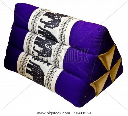 Thai Pillow On White Background