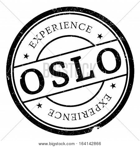 Oslo stamp. Grunge design with dust scratches. Effects can be easily removed for a clean, crisp look. Color is easily changed.