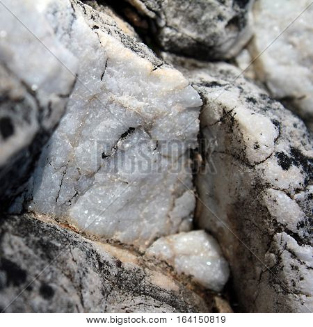 Macro of marble type rock formation in Malaga, Spain.
