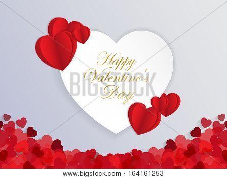 Design Template Heart for Valentine's Day Backgroundillustration EPS 10.