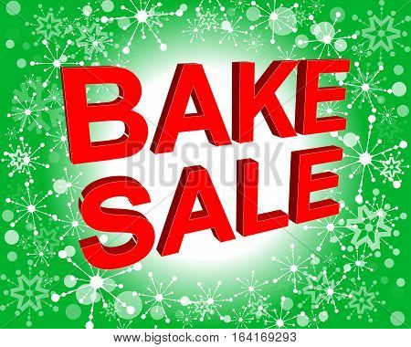 Sale Poster With Bake Sale Text. Advertising  Banner