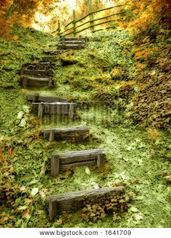 Stairs To Happy Place  Fall