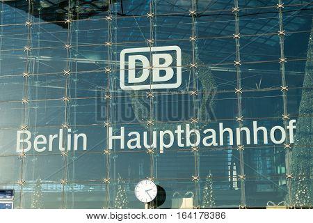 Db / Deutsche Bahn Logo At Berlin Hauptbahnhof