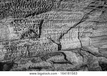 Elgol honeycomb. Beach of Isle of Skye Scotland United Kingdom