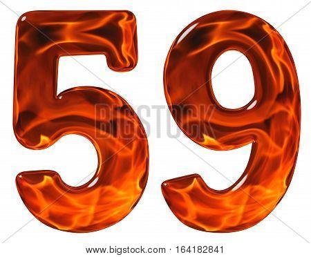 59 Fifty Nine Numeral Imitation