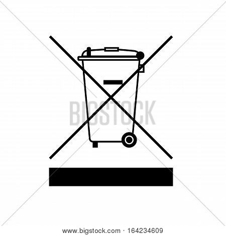 WEEE Directive symbol. Waste Electrical and Electronic Equipment Directive. Vector