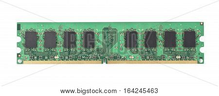 Computer memory chip isolated on white background